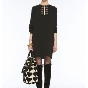 DVF. Black Florina Dress.